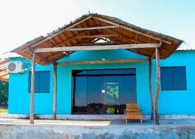 Vista frontal alojamiento - Ecotur Laguna Blanca